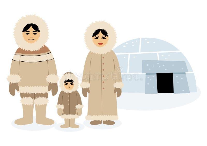 eskimos stock illustrationer