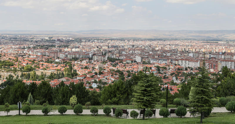 Eskisehir City in Turkey. Aerial Townscape of Eskisehir City in Turkey stock image