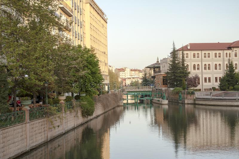 Eskisehir / Turkey. EskiÅŸehir settled around the Porsuk river,Turkey`s most beautiful cities stock images