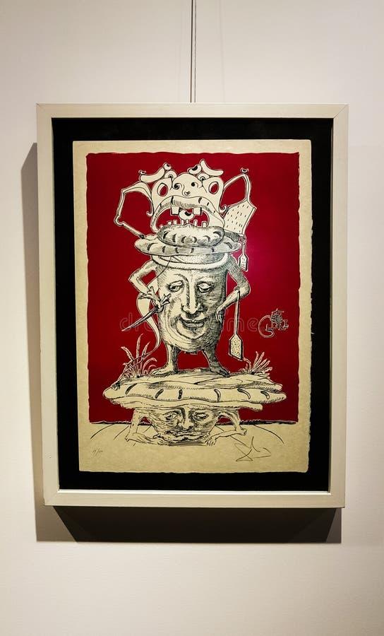 Eskisehir, Turquía - 4 de marzo de 2017: Exposición en AR contemporánea foto de archivo libre de regalías