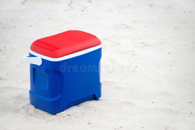 Esky cooler box. In Australian Flag colors on the grass stock image