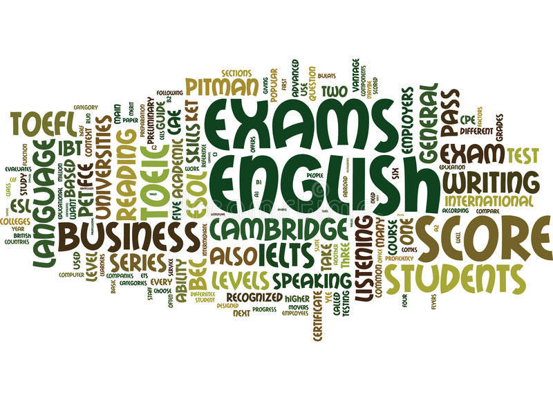 ESL-Examens een Concept van Leraarss guide word cloud vector illustratie
