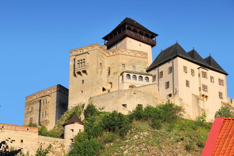 Eslováquia - castelo de Trencin foto de stock royalty free