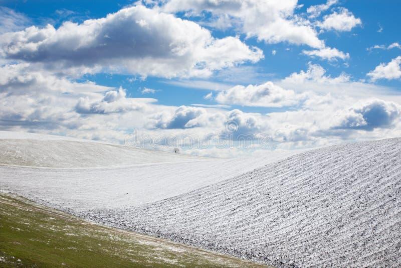 Eslováquia - o campo no país da mola do platô de Silicka Planina foto de stock