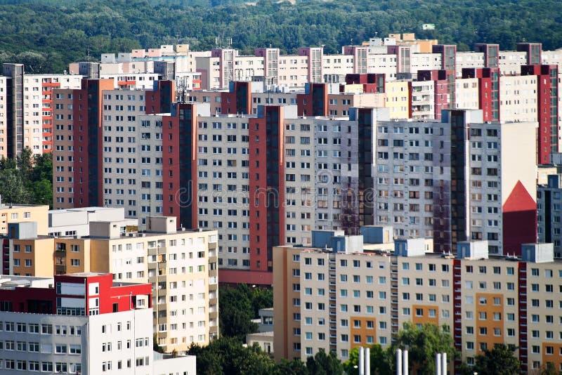 Eslovaquia, Bratislava, construcciones de viviendas fotos de archivo libres de regalías