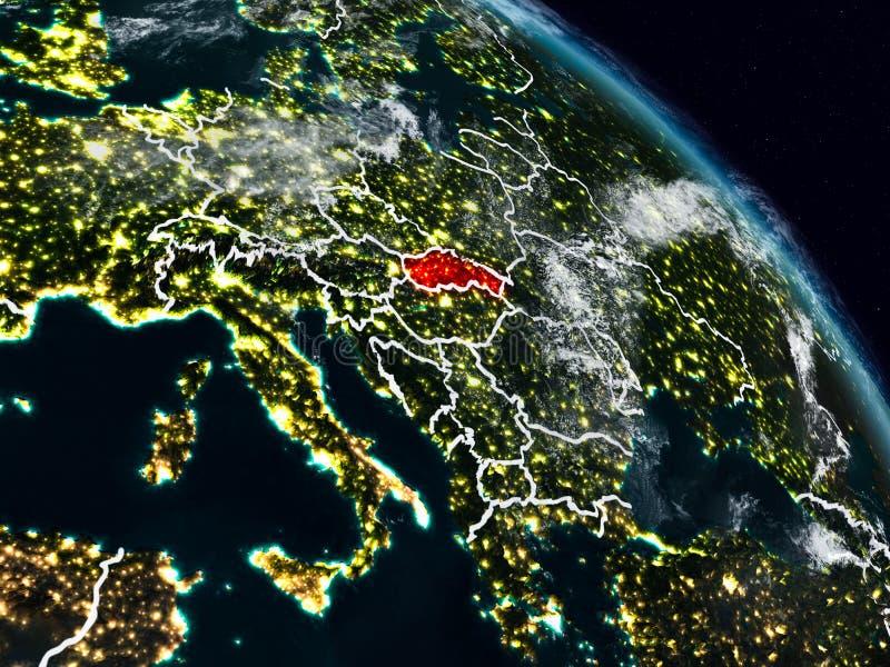 Eslovaquia en la noche stock de ilustración