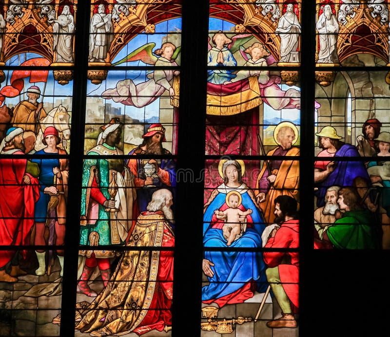 Esmagamento - adoração dos três Reis Magos foto de stock