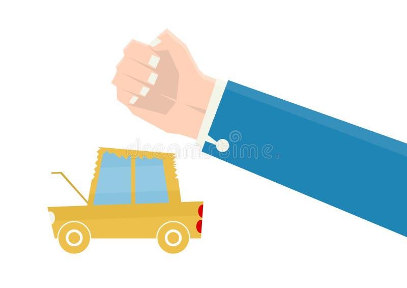 Esmagamento do carro ilustração do vetor