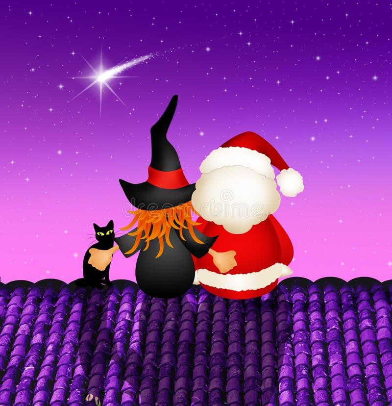 Esmagamento e Santa Claus ilustração stock