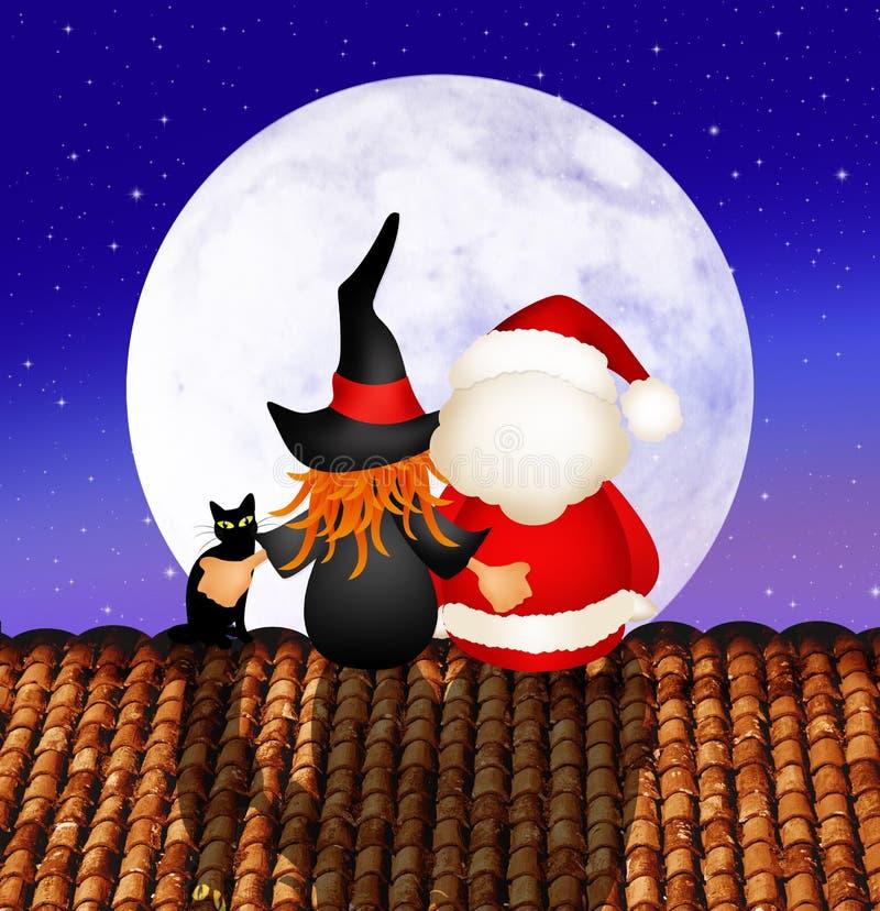 Esmagamento e Santa Claus ilustração royalty free