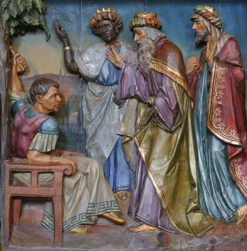 Esmagamento na frente de Herod imagem de stock royalty free