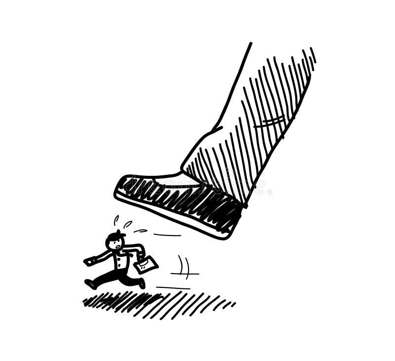 Esmagando o concorrente ilustração do vetor