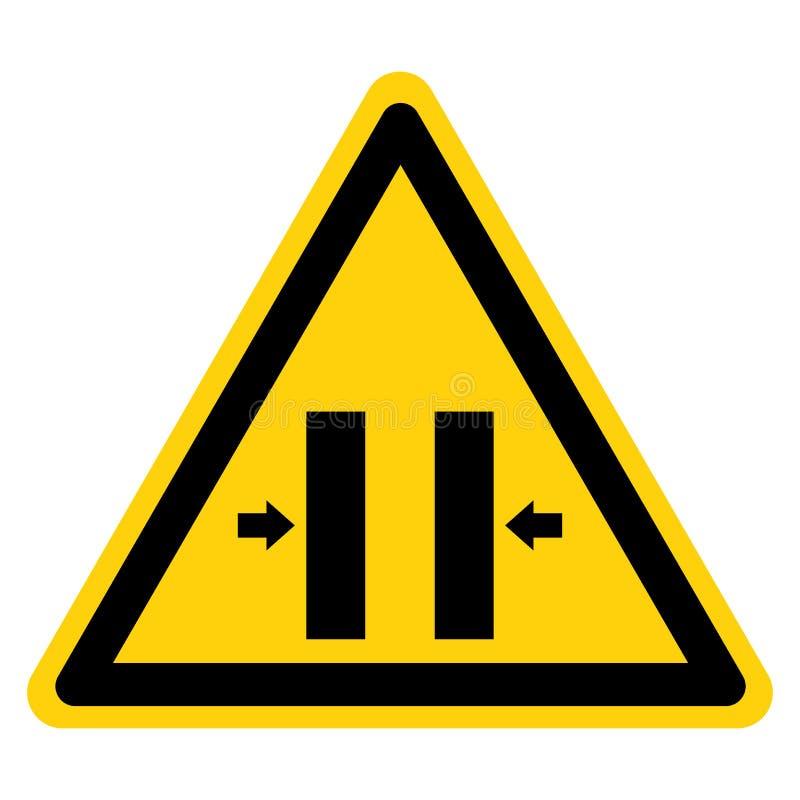 Esmague o sinal de fechamento do símbolo do molde do perigo, ilustração do vetor, isolado na etiqueta branca do fundo EPS10 ilustração royalty free