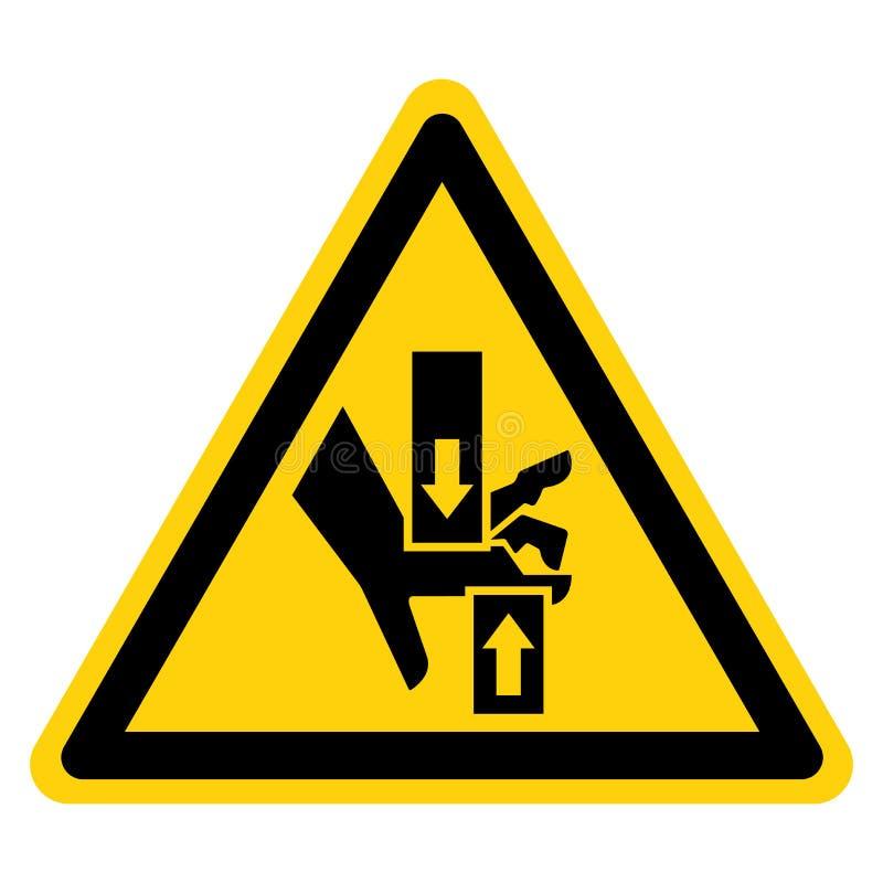 Esmague o sinal inferior superior do símbolo da mão, ilustração do vetor, isolado na etiqueta branca do fundo EPS10 ilustração do vetor