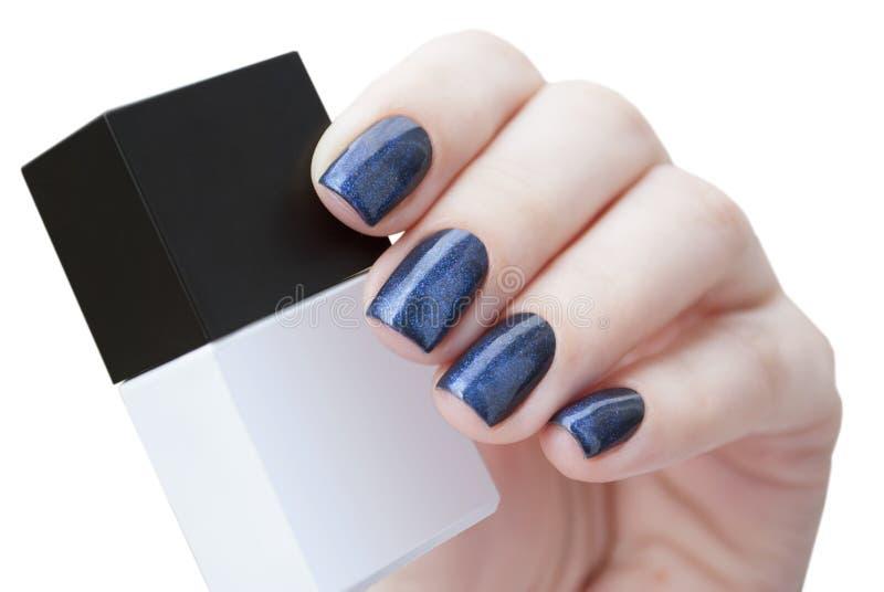 Esmalte de uñas a disposición, primer fotos de archivo