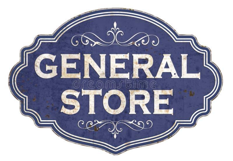 Esmalte Tin Sign Retro Old West de la tienda general del vintage libre illustration