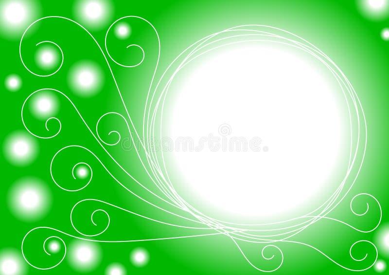A esmeralda ilumina o quadro da beira ilustração do vetor