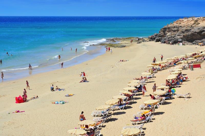 Esmeralda strand i Fuerteventura, kanariefågelöar royaltyfri foto