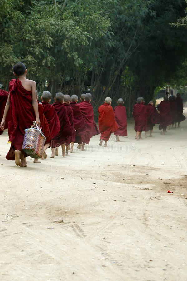 Esmola do recept das monges do principiante fotografia de stock royalty free