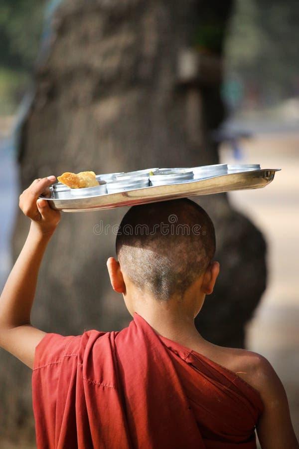 Esmola do recept das monges do principiante fotos de stock