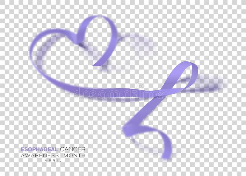Esophageal Cancer Awareness Month. Periwinkle Color Ribbon Isolated On Transparent Background. Vector Design Template vector illustration