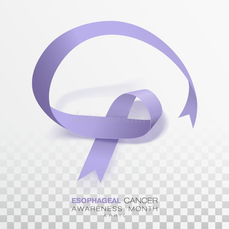 Esophageal Maand van de Kankervoorlichting Het Lint van de maagdenpalmkleur op Transparante Achtergrond wordt geïsoleerd die Vect stock illustratie