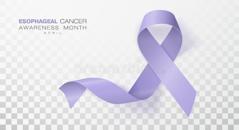 Esophageal Maand van de Kankervoorlichting Het Lint van de maagdenpalmkleur op Transparante Achtergrond wordt geïsoleerd die Vect royalty-vrije illustratie