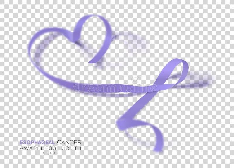 Esophageal Maand van de Kankervoorlichting Het Lint van de maagdenpalmkleur op Transparante Achtergrond wordt geïsoleerd die Vect vector illustratie