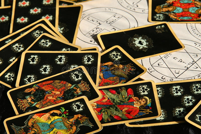 Esoteric atmosphere,witch magic fortune teller stock photos