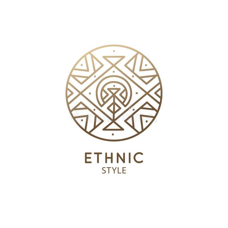 Esoterisch geometrisch embleem royalty-vrije illustratie