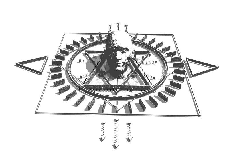 Esoterisch Mystiek Symbool royalty-vrije illustratie