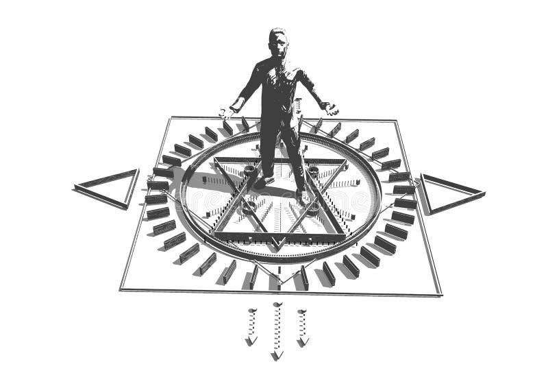 Esoterisch Mystiek Symbool vector illustratie
