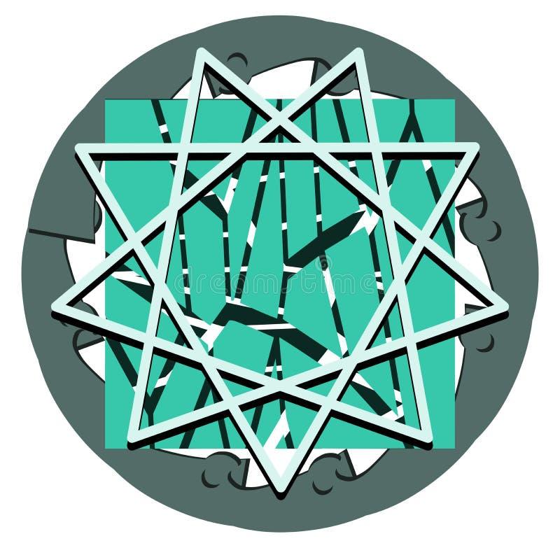 Esoterisch symbool van Heilige Geest op fantasie stock illustratie