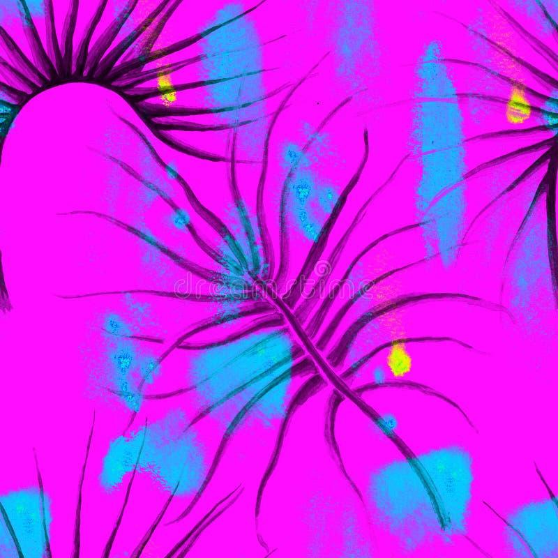Esotico tropicale del modello senza cuciture di estate della giungla illustrazione di stock