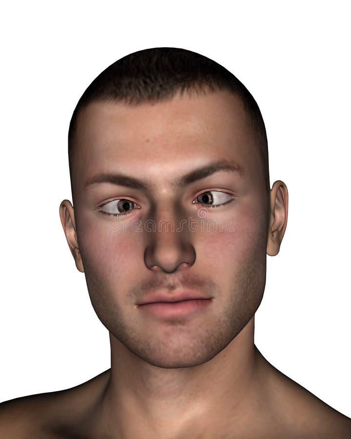 Esotropia - 3D rendem ilustração do vetor