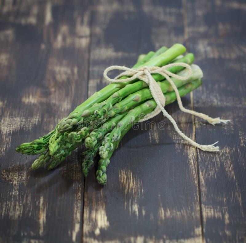 Espárrago del verde de la foto de la comida fotos de archivo