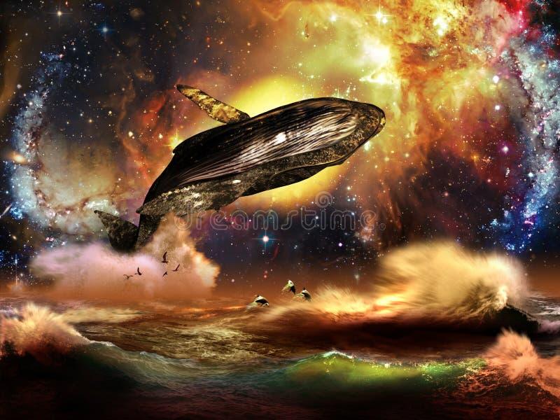 Espèce marine et univers illustration libre de droits