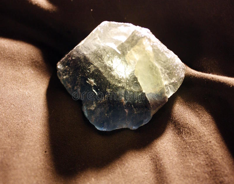 Espécime da fluorite foto de stock