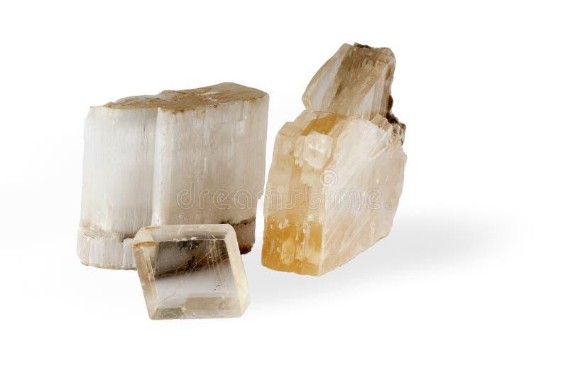 Espécime dos minerais naturais isolados no fundo branco fotografia de stock royalty free