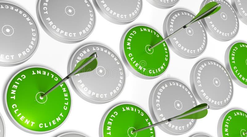 Espérance de rotation au client illustration de vecteur