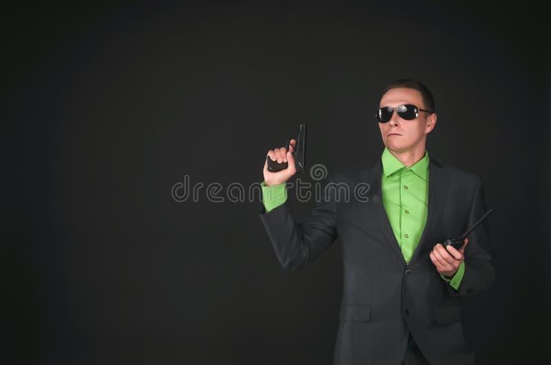 espía bodyguard Agente de servicio secreto foto de archivo libre de regalías