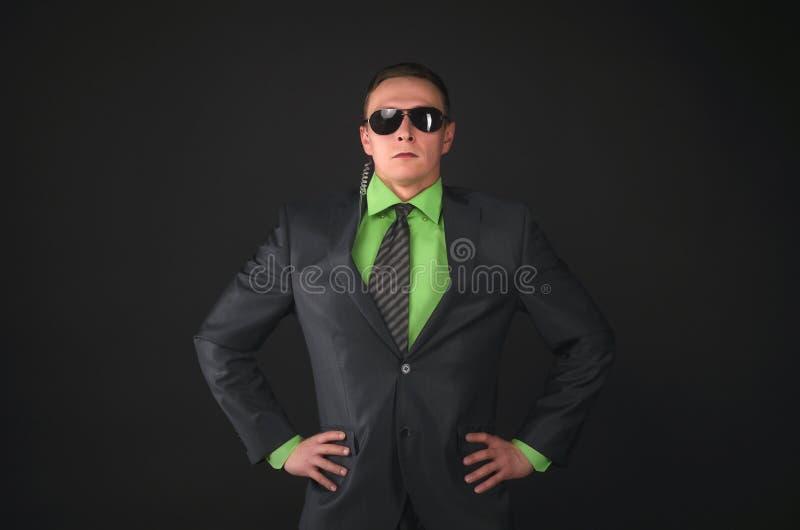 espía bodyguard Agente de servicio secreto imagen de archivo libre de regalías