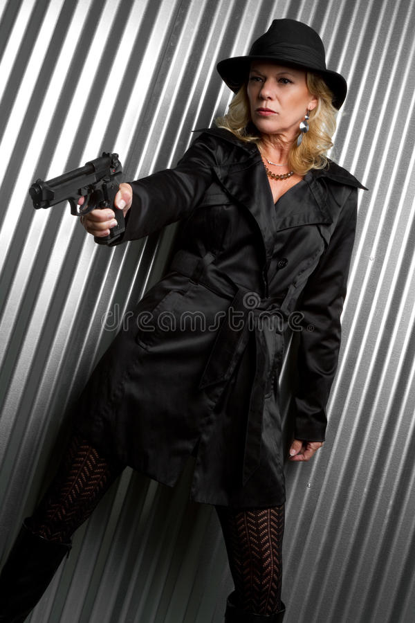 Espía de sexo femenino fotografía de archivo