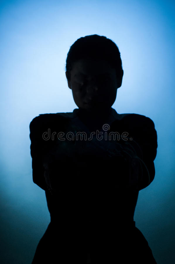 Espía en sombra fotos de archivo libres de regalías