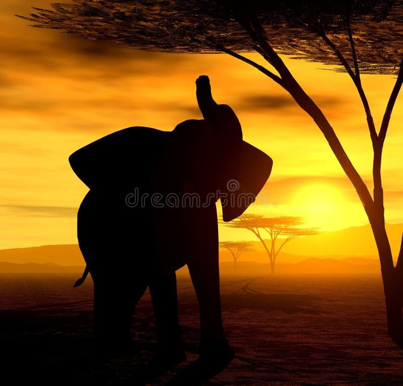 Espírito africano - o elefante ilustração do vetor