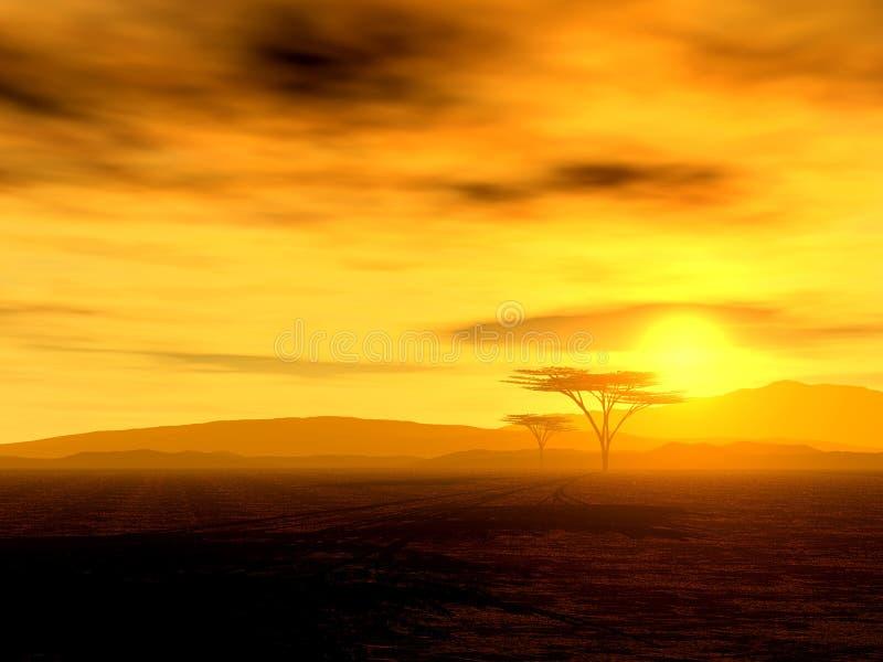 Espírito africano - o savana ilustração do vetor