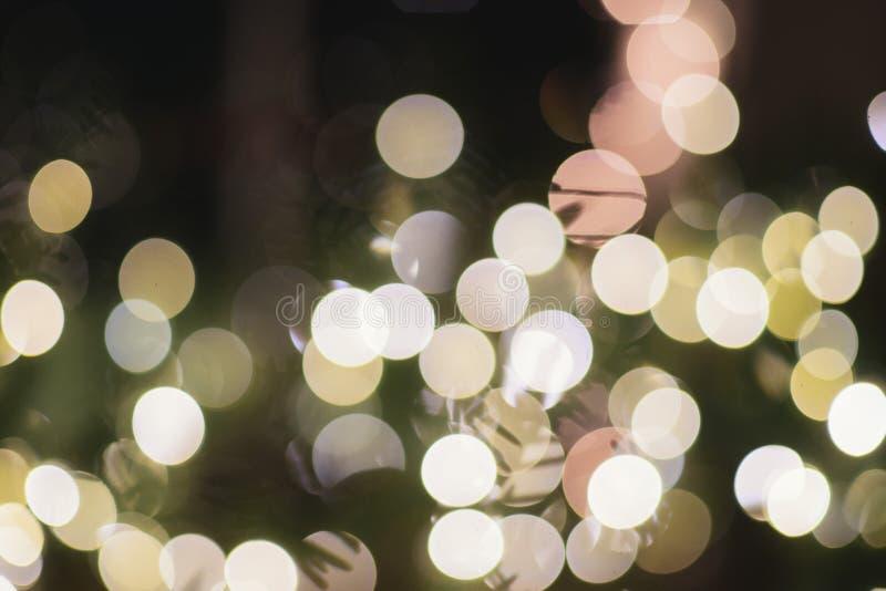 Espírito claro do Natal da decoração dos feriados de Bokeh do Natal imagem de stock royalty free