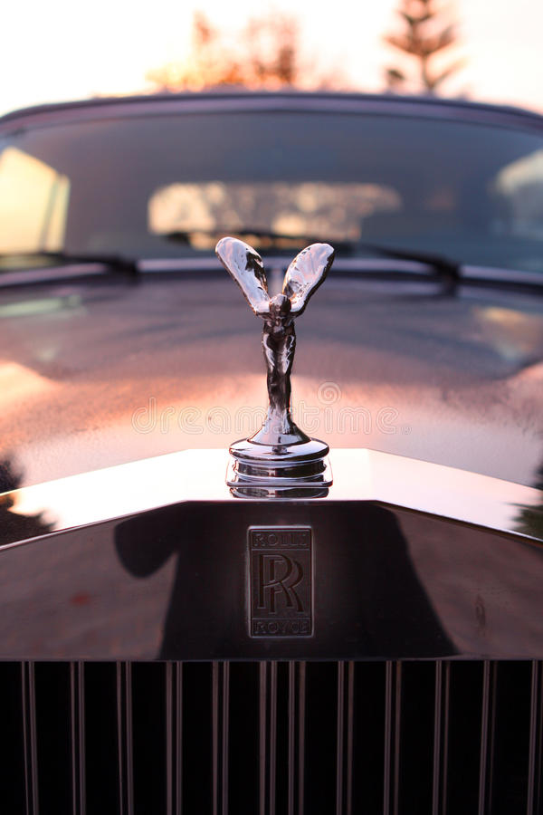 Espírito da êxtase em Rolls Royce Corniche imagem de stock