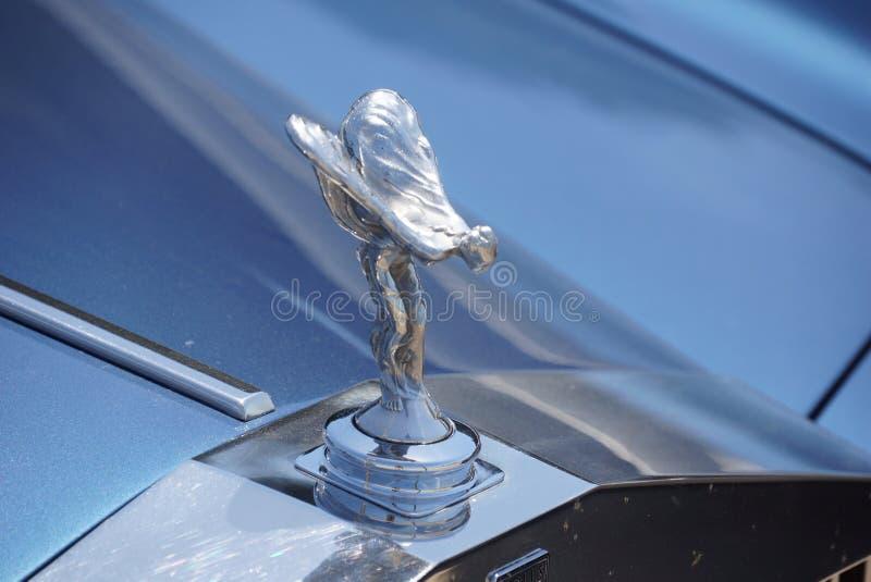 Espírito da êxtase Rolls Royce Hood Ornament fotos de stock