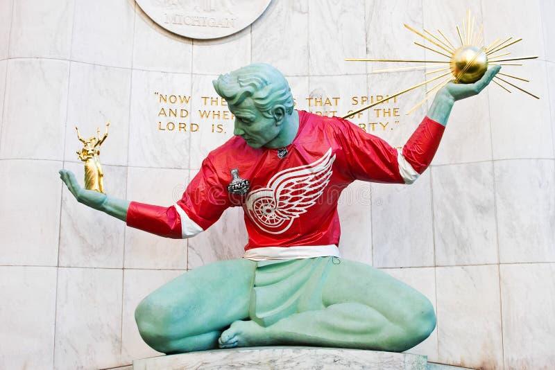 Espírito de Detroit na asa vermelha Jersey fotografia de stock royalty free